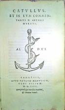 Catullus, et in eum commentarius M. Antonii…