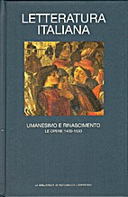 Letteratura italiana diretta da Alberto Asor…