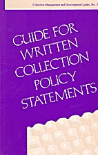 Guide for Written Collection Policy…