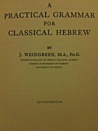 Classical Hebrew Composition by J. Weingreen
