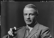 Author photo. Bonamy Dobrée,   Source and credit: National Portrait Gallery (NPG), London. by Howard Coster   half-plate film negative, 1939   permission of the NPG via Creative Commons license for non-commercial use only. (c) cc logo Attribution-NonCommercial-NoDerivs 3.0 Unported (CC BY-NC-ND 3.0)   <a href=&quot;https://www.npg.org.uk/collections/search/use-this-image.php?mkey=mw44734&quot; rel=&quot;nofollow&quot; target=&quot;_top&quot;>https://www.npg.org.uk/collections/search/use-this-image.php?mkey=mw44734</a>