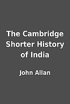 The Cambridge Shorter History of India by…