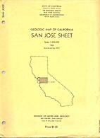 Geologic map of California: San Jose sheet…