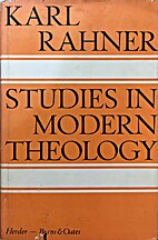 Studies in modern theology by Karl Rahner