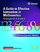 Patterning and Algebra, Grades K-3 by…
