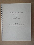 The War Years 1941-1945: My Experience, Part…