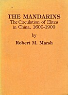 The Mandarins: The Circulation Of Elites In…