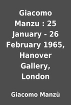 Giacomo Manzu : 25 January - 26 February…