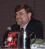 Author photo. Brad Linaweaver, taken at the 2006 Dragon Con in Atlanta, GA [credit: Caran Wilbanks]
