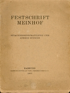Festschrift Meinhof :…