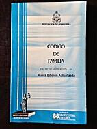 Codigo de Familia by Colindres O. Ramiro
