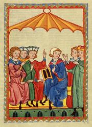 Author photo. Meister Gottfried von Straßburg. From <a href=&quot;http://de.wikipedia.org/wiki/Bild:Codex_Manesse_Gottfried_von_Stra%C3%9Fburg.jpg&quot;>Wikimedia Commons</a>