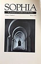 Sophia. Vol. 1. No. 2. Journal of…