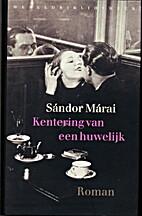 Portraits of a Marriage by Sándor Márai