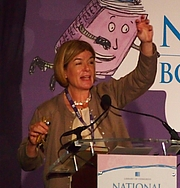 "Author photo. reading at National Book Festival By Slowking4 - Own work, GFDL 1.2, <a href=""https://commons.wikimedia.org/w/index.php?curid=62180023"" rel=""nofollow"" target=""_top"">https://commons.wikimedia.org/w/index.php?curid=62180023</a>"