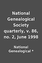 National Genealogical Society quarterly, v.…