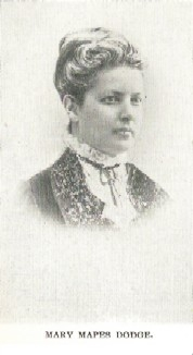 Author photo. Mary Elizabeth Mapes Dodge (1831-1905) Buffalo Electrotype and Engraving Co., Buffalo, N.Y.