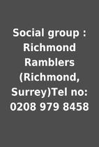 Social group : Richmond Ramblers (Richmond,…