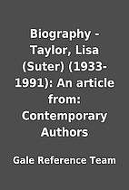 Biography - Taylor, Lisa (Suter)…