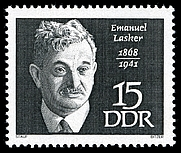 Author photo. Emanuel Lasker - Stamps of Germany (DDR) 1968, MiNr 1387