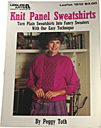 Knit Panel Sweatshirts (Leisure Arts 1510)…