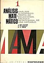 Analisis Matematico Volumen I (Spanish…