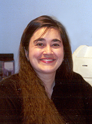 Author photo. Janice Nickerson in home office, November 2000
