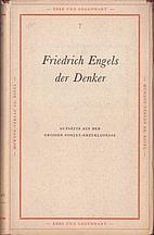 Friedrich Engels der Denker by W. Haenisch