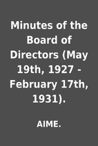 Minutes of the Board of Directors (May 19th,…