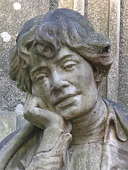 Author photo. Statue of Rosalía de Castro, Santiago de Compostela, Spain.  Photo by Luis Miguel Bugallo Sánchez / Wikipedia.