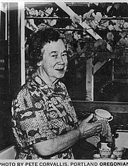 Author photo. Victoria Case photo from the Oregonian about 1957.