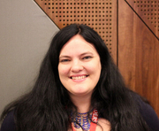 Author photo. At Aussiecon IV.