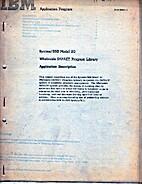 IBM Application Program. System / 360 Model…