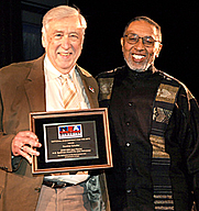 Author photo. A.B. Spellman (right) with the 2008 recipient of the A.B. Spellman NEA Jazz Masters Award for Jazz Advocacy, Gunther Schuller (left).