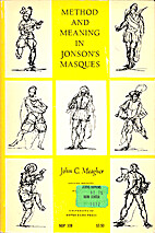 Method and Meaning in Jonson's Masques by…