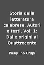 ˆStoria della letteratura calabrese. Autori…