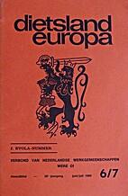 Dietsland-Europa, 30ste jaargang, juni/juli…