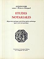 Etudes Notariales : répertoire poétique…
