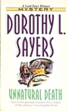 Unnatural death by Dorothy L. Sayers