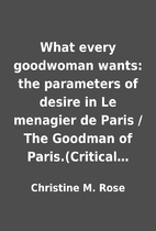 What every goodwoman wants: the parameters…