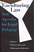 Enculturing Law: New Agendas for Legal…
