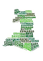 A Fiction Map of Wales by John Lavin