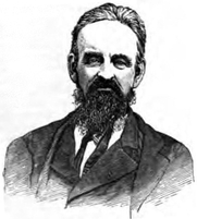 Author photo. Image from <b><i>The Bible of Bibles</i></b> (1879) by Kersey Graves