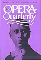 The Opera Quarterly - Vol. 16 Nr 1 by E.…