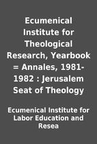 Ecumenical Institute for Theological…