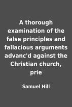 A thorough examination of the false…