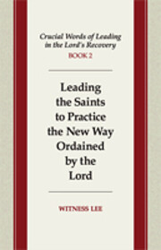Crucial Words of Leading in the Lord's…