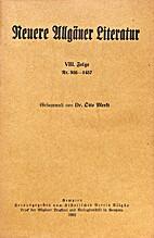 Neuere Allgäuer Literatur VIII. Folge Nr.…