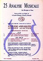 Analyse Musicale n° 25 by Bernadette…
