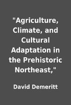 Agriculture, Climate, and Cultural…
